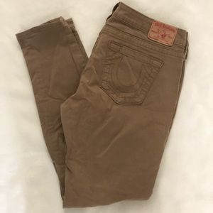 Khaki Casey Stretch Denim Jean